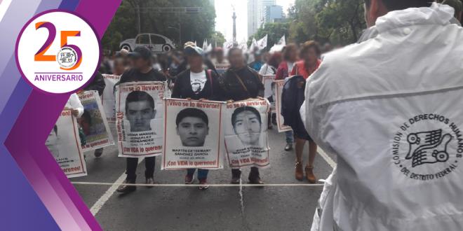 CDHDF se suma al llamado de la CIDH para acelerar los trabajos de búsqueda de los estudiantes de Ayotzinapa