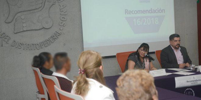 Discurso de la Presidenta de la CDHDF, Nashieli Ramírez Hernández, en la presentación de la Recomendación 16/2018