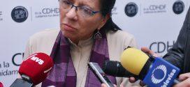 Entrevista a la Presidenta de la CDHDF, Nashieli Ramírez Hernández, al terminar la presentación de la Recomendación 18/2018.