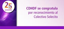 """CDHDF se congratula por Premio """"NOTRE DAME"""" 2018 al Colectivo Solecito de Veracruz"""