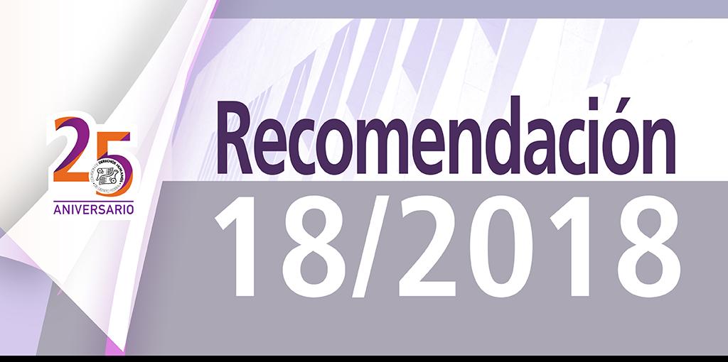 Presentación Recomendación 18/2018 @ CDHDF