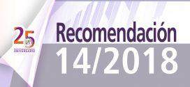 Recomendación 14/2018