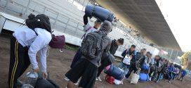 Galería: Entrevista sobre salida de caravana migrante hacia el albergue del peregrino.