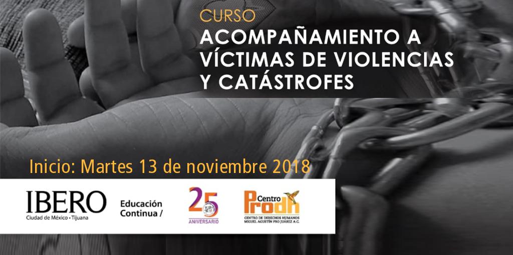 Curso: Acompañamiento a víctimas de violencias y catástrofes @ CDHDF