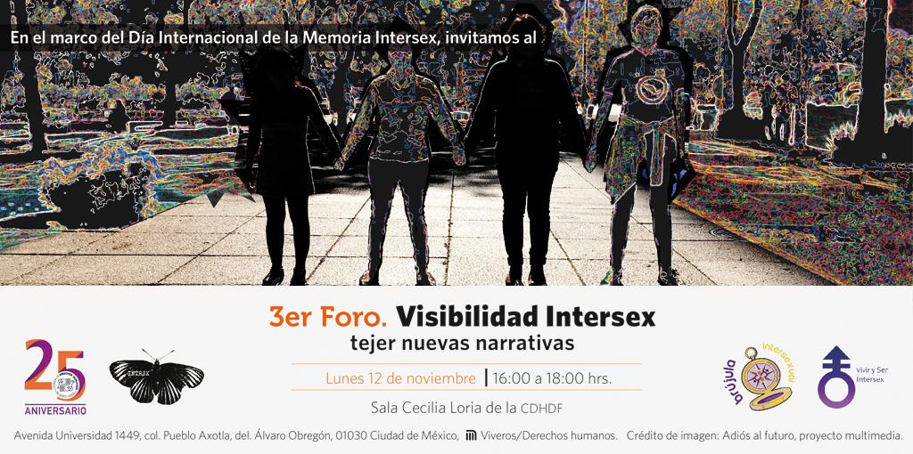 """3er. Foro: """"Visibilidad Intersex"""" @ CDHDF"""