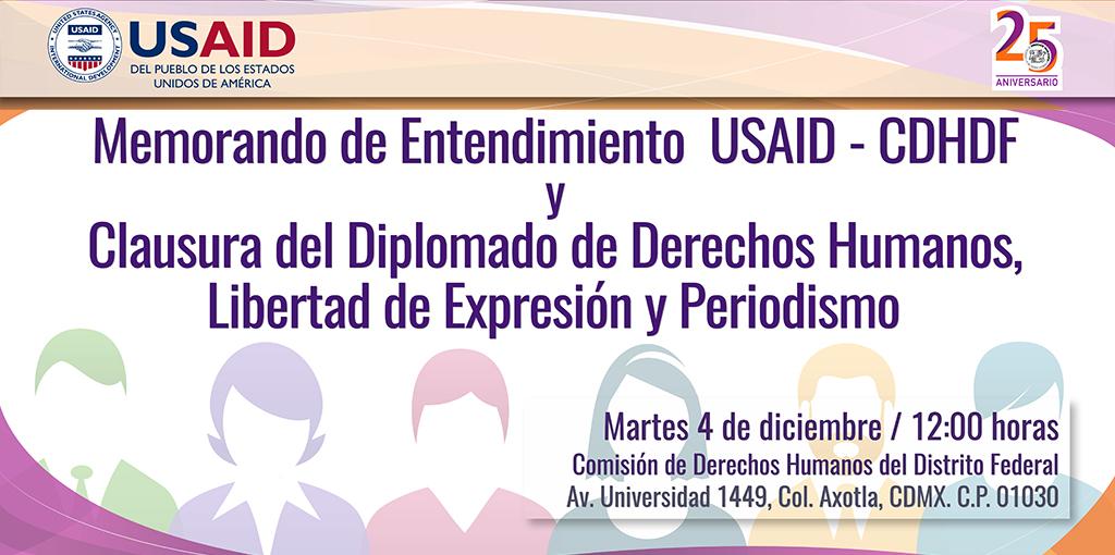Clausura del Diplomado de Derechos Humanos, Libertad de Expresión y Periodismo. @ CDHDF