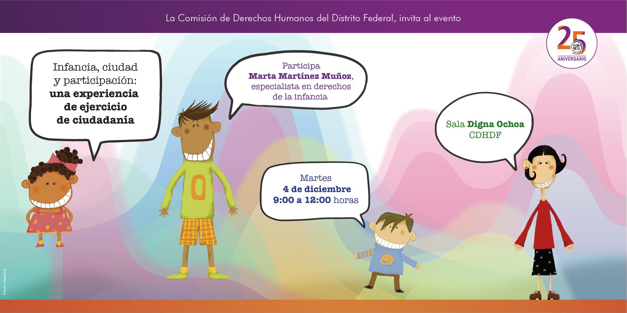 Infancia, ciudad y participación: una experiencia de ejercicio de ciudadanía. @ CDHDF