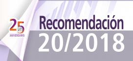 Recomendación 20/2018