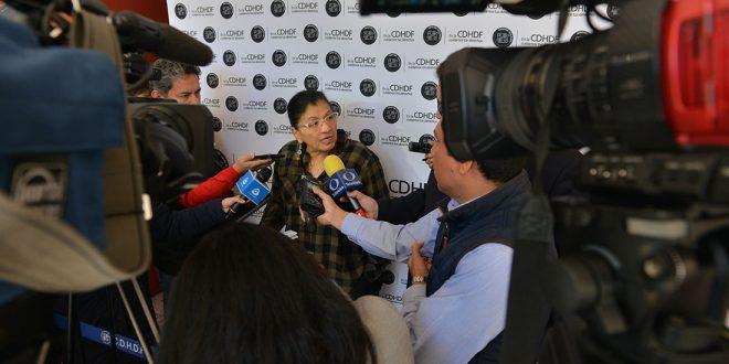 """Entrevista a la Presidenta de la CDHDF, Nashieli Ramírez Hernández, en el """"Encuentro sobre Participación Social y Derechos Humanos: Organizaciones de la Sociedad Civil de los Diversos Sectores y de las Diversas Agendas""""."""