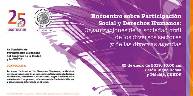 Encuentro sobre Participación Social y Derechos Humanos