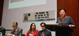 Palabras de la Presidenta de la CDHDF, Nashieli Ramírez Hernández, durante su participación en el Foro Nacional por una Cultura de Paz.