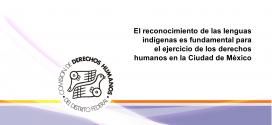 El reconocimiento de las lenguas indígenas es fundamental para el ejercicio de los derechos humanos en la Ciudad de México