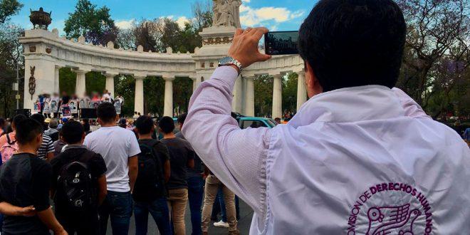Galería: CDHDF acompañó marcha #Ayotzinapa53Meses