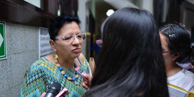 """Entrevista a la Presidenta de la CDHDF, Nashieli Ramírez Hernández, al término de la Inauguración del Foro """"No Más Acoso Sexual Digital""""."""