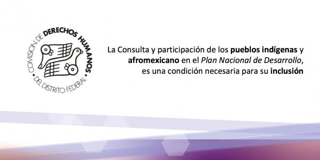 La Consulta y participación de los pueblos indígenas y afromexicano en el Plan Nacional de Desarrollo, es una condición necesaria para su inclusión