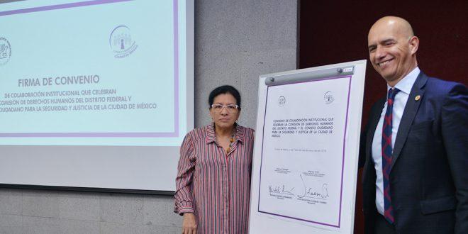 CDHDF y el Consejo Ciudadano para la Seguridad y Justicia de la Ciudad de México, fortalecen vínculo para atender y canalizar a víctimas del delito y de derechos humanos