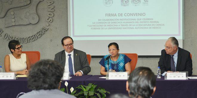 Discurso de la Presidenta de la CDHDF, Nashieli Ramírez Hernández, en la Firma de Convenio de Colaboración Institucional con la Facultad de Medicina, a través de la Licenciatura en Ciencia Forense, de la UNAM.
