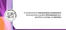 Es fundamental el reconocimiento constitucional de las personas y pueblos Afromexicanos para garantizar y proteger sus derechos