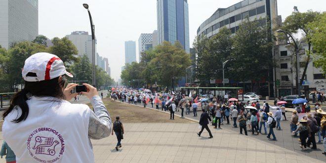 Galería: CDHDF monitorea marcha de maestros