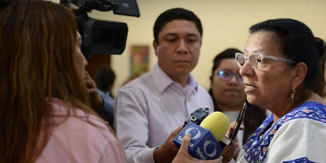"""Entrevista a la Presidenta de la CDHDF, Nashieli Ramírez Hernández, en la inauguración de la """"Primera Jornada por la Diversidad Cultural (Diversidad Religiosa)""""."""