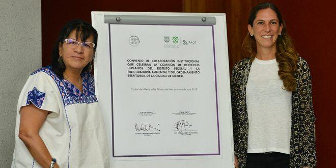 CDHDF renueva Colaboración Institucional con la PAOT, en un marco de nuevas atribuciones