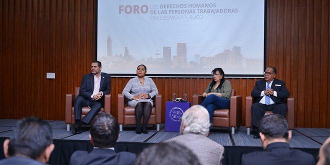 CDHDF acompaña la agenda que impulsa el reconocimiento legal de las personas trabajadoras en el espacio público