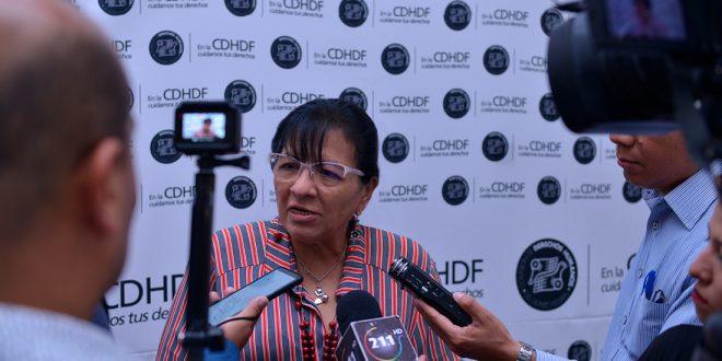 """Entrevista a la Presidenta de la CDHDF, Nashieli Ramírez Hernández, en la inauguración del """"Conversatorio Derechos de las Niñas""""."""