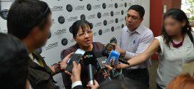 """Entrevista a la Presidenta de la CDHDF, Nashieli Ramírez Hernández, en la Conferencia de Prensa """"No Hay Transformación Con Explotación Infantil""""."""