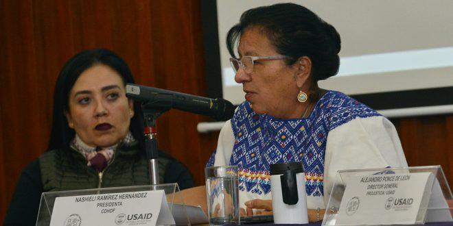 Discurso de la Presidenta de la CDHDF, Nashieli Ramírez, en la proyección del Documental «Defensa ¿Legítima?», realizado en la sede de este Organismo