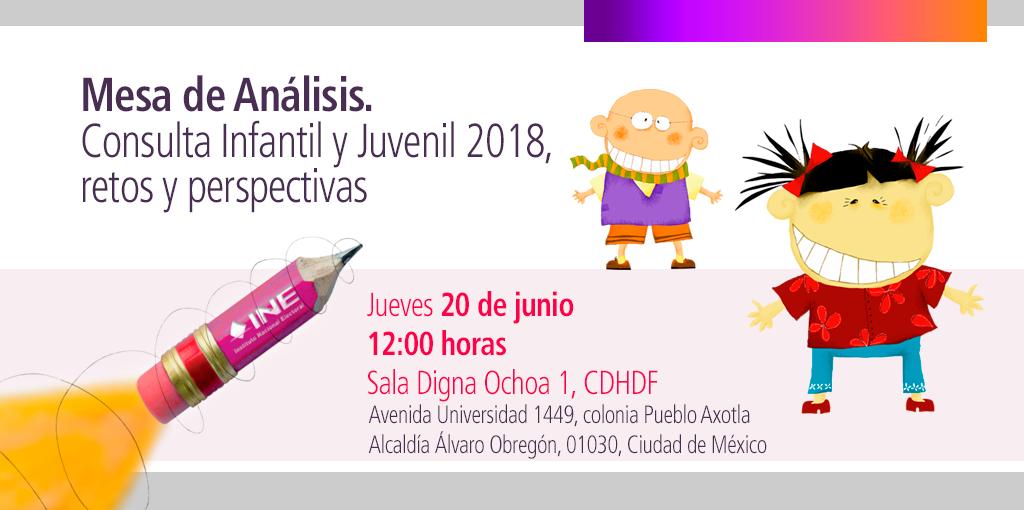Mesa de análisis. Consulta Infantil y Juvenil 2018, retos y perspectivas. @ CDHDF