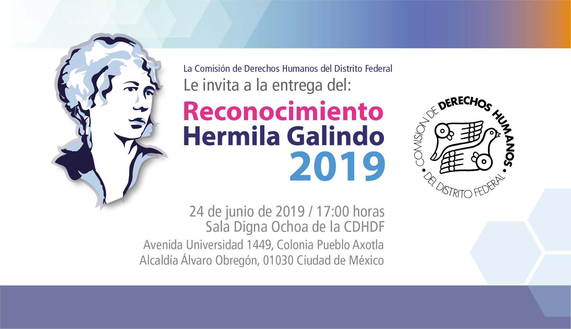 """Ceremonia de entrega delReconocimiento """"Hermila Galindo"""" 2019. @ CDHDF"""