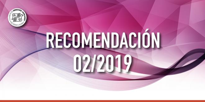 Recomendación 02/2019
