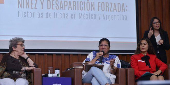 """Palabras de la Presidenta de la CDHDF, Nashieli Ramírez Hernández, en Conversatorio """"Niñez y Desaparición Forzada: Historias de Lucha en México y Argentina""""."""