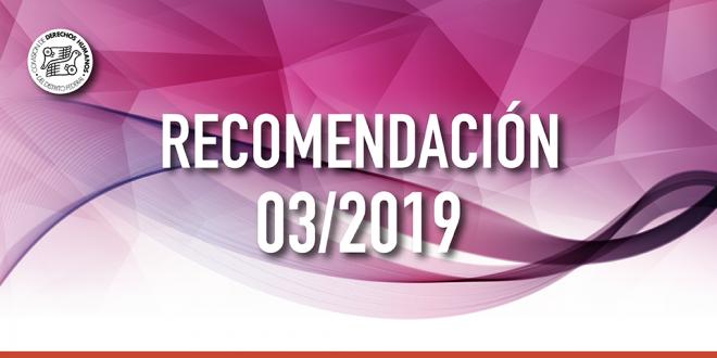Recomendación 03/2019