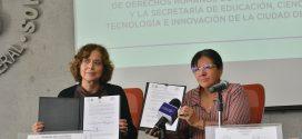 Firma de Convenio marco de Colaboración con la SECTEI, para fortalecer la educación en Derechos Humanos entre elementos de la policía