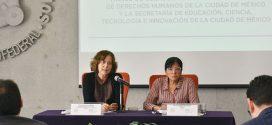Sesión de preguntas de la firma de convenio marco de colaboración entre la Comisión de Derechos Humanos capitalina y la SECTEI CDMX
