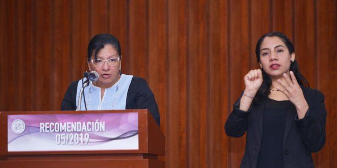 Discurso de la Presidenta de la Comisión de Derechos Humanos de la Ciudad de México, Nashieli Ramírez, en presentación de la Recomendación 05/2019.