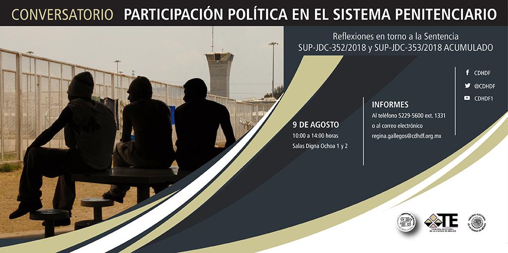 Conversatorio Participación Política en el Sistema Penitenciario @ CDHDF