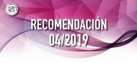 Recomendación 04/2019