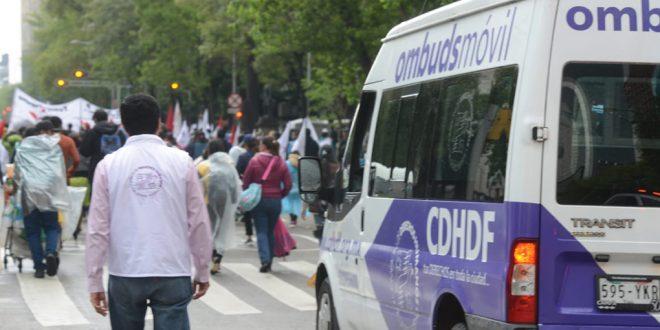 Galería: CDH de la Ciudad de México acompañó marcha #Ayotzinapa58Meses