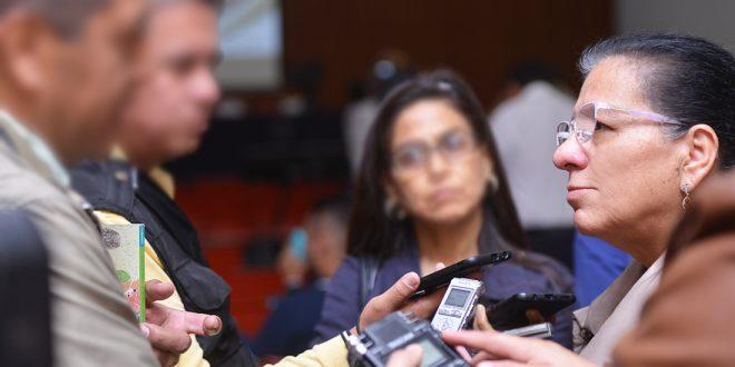 Entrevista a la Presidenta de la CDHCDMX, Nashieli Ramírez, al terminar el Conversatorio Participación Política en el Sistema Penitenciario.