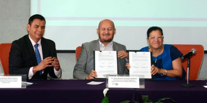 Firma CDHCM Convenio Marco de Colaboración con su homóloga de Baja California Sur