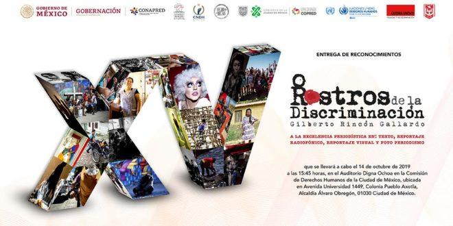 Ceremonia de entrega de Reconocimientos delXV Premio Nacional Rostros de la Discriminación