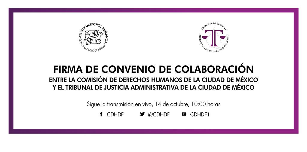 Firma de Convenio de Colaboración con el Tribunal de Justicia Administrativa de la Ciudad de México @ Av. Universidad 1449, colonia Pueblo Axotla, Alcaldía Álvaro Obregón, Ciudad de México