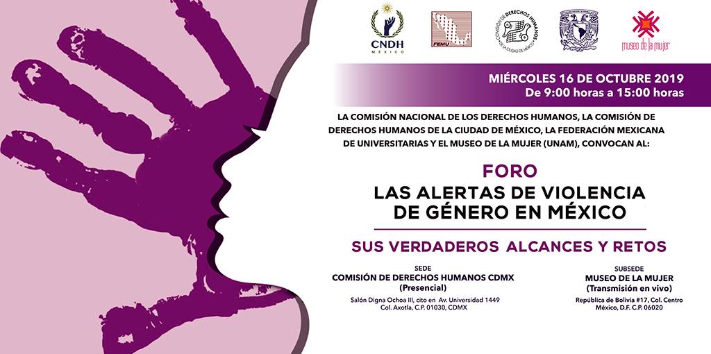 Foro: Las alertas de violencia de género en México. Sus verdaderos alcances y retos