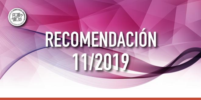 Recomendación 11/2019