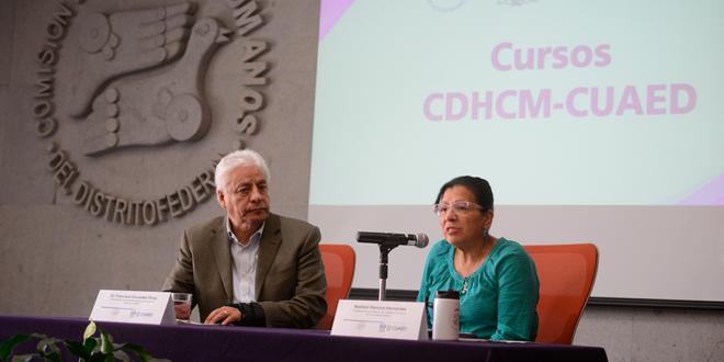 Galería: Presentación de Cursos en Línea organizados por la CDHCM y CUAED-UNAM