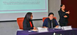 Discurso de la Presidenta de la CDHCM, Nashieli Ramírez, en la firma de Convenio de Colaboración con el Tribunal de Justicia Administrativa de la CDMX.