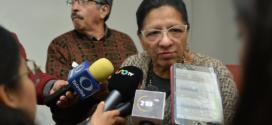 """Entrevista a la Presidenta de la CDHCM, Nashieli Ramírez Hernández, en la rueda de prensa """"Garantizando los Derechos de las Trabajadoras del Hogar""""."""
