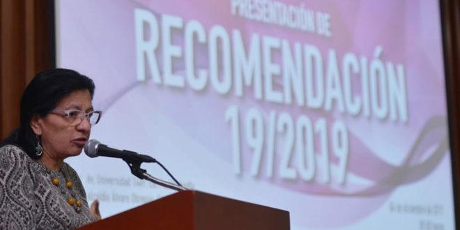 Palabras de la Presidenta de la CDHCM, Nashieli Ramírez Hernández, en la presentación de la Recomendación 19/2019.